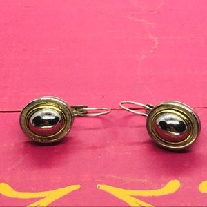Two tone vintage earrings